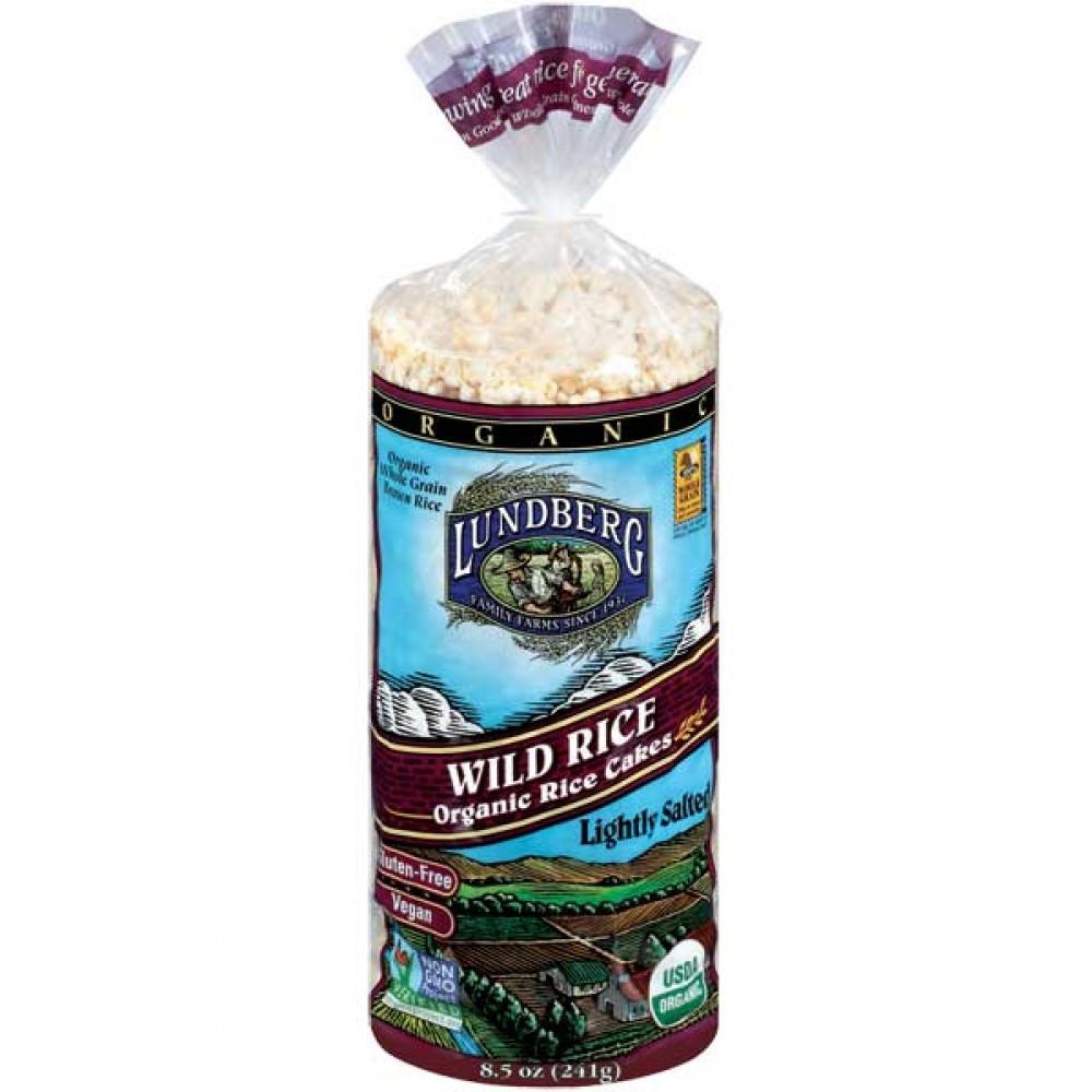 Organic Wild Rice  Lundberg Organic Wild Rice Cakes Lightly Salted