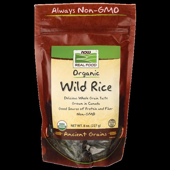 Organic Wild Rice  NOW Foods Organic Wild Rice 8 oz 227 g Pkg Swanson
