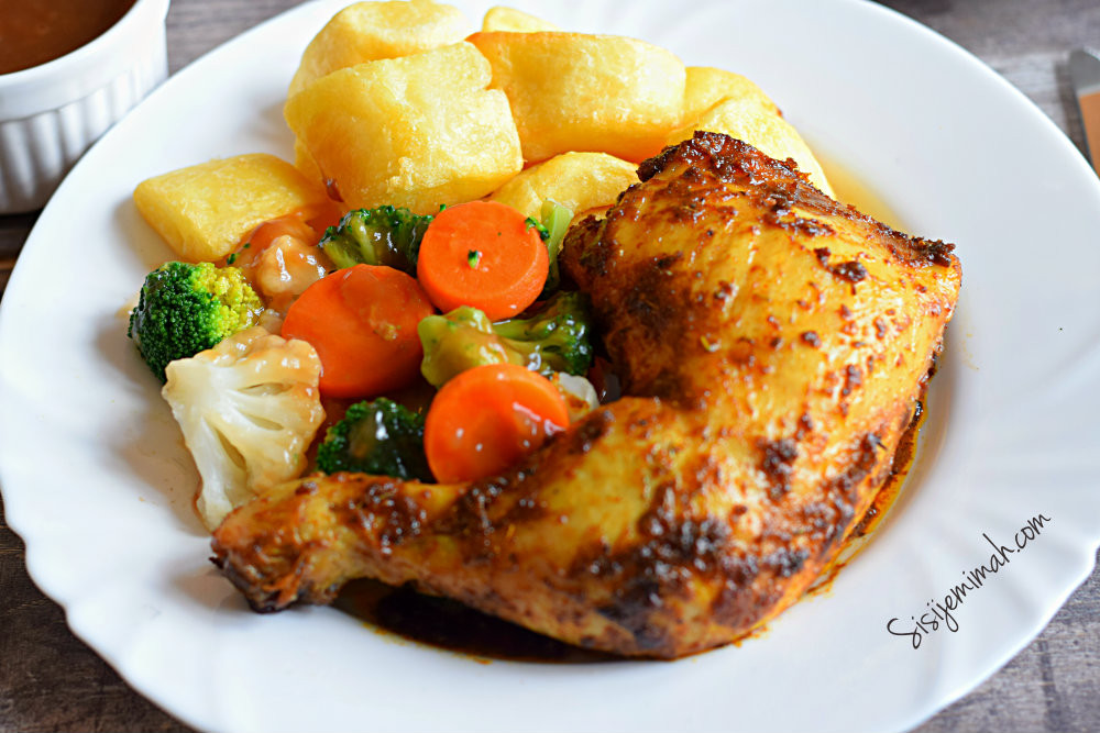 Oven Baked Chicken Quarters  Oven Roasted Chicken Leg Quarters Sisi Jemimah