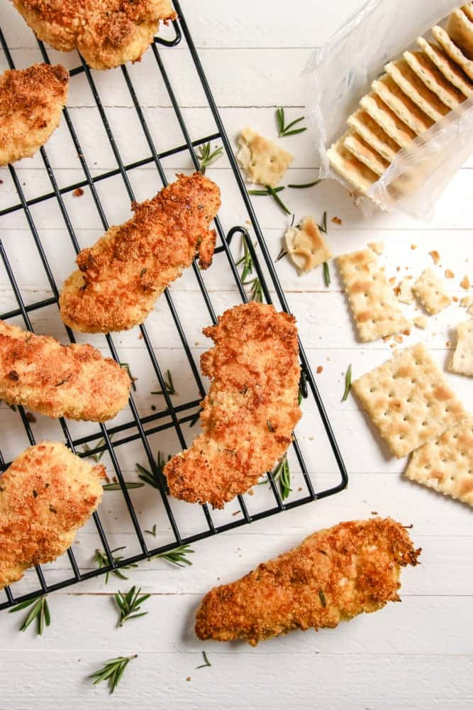 Oven Fried Chicken Strips  Crispy Oven Fried Chicken Fingers