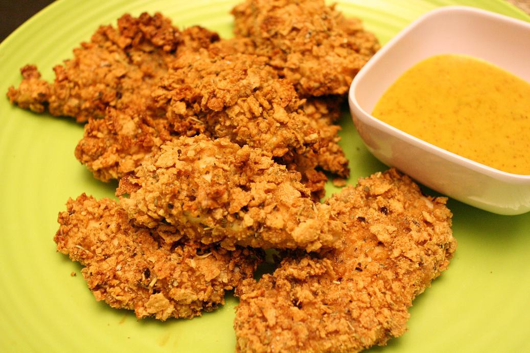 Oven Fried Chicken Strips  Oven Fried Chicken Recipe WallFoods