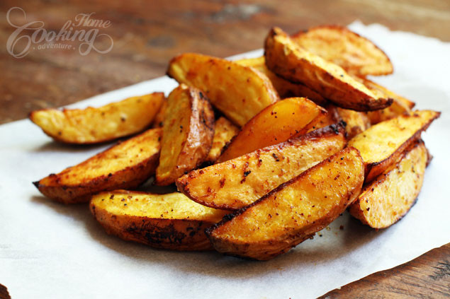Oven Roasted Potato Wedges  Baked Potato Wedges Home Cooking Adventure