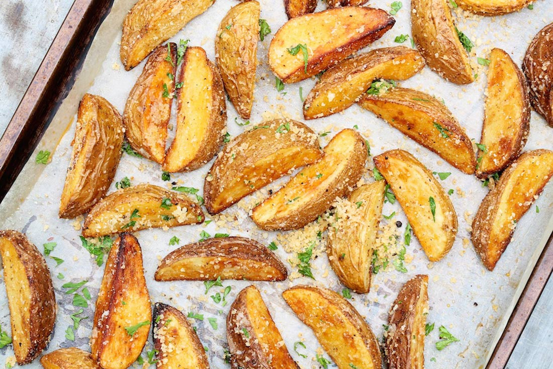 Oven Roasted Potato Wedges  Baked Potato Wedges – The Fountain Avenue Kitchen