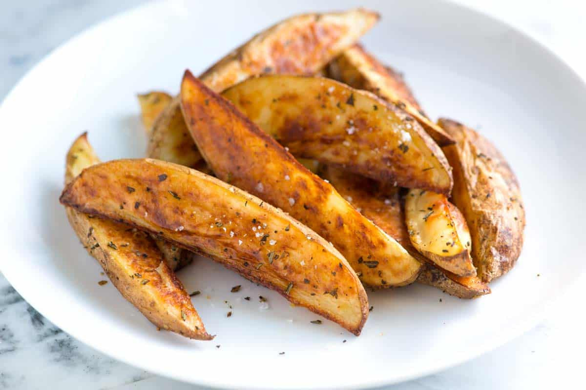 Oven Roasted Potato Wedges  Rosemary Baked Potato Wedges Recipe