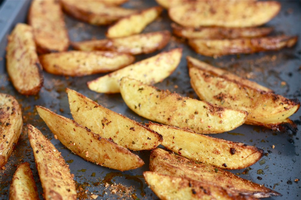 Oven Roasted Potato Wedges  Crispy Oven Baked Chermoula Potato Wedges