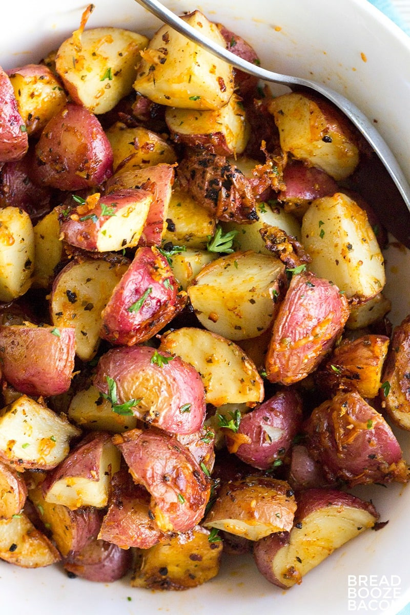Oven Roasted Red Potatoes  Garlic Parmesan Roasted Red Potatoes • Bread Booze Bacon