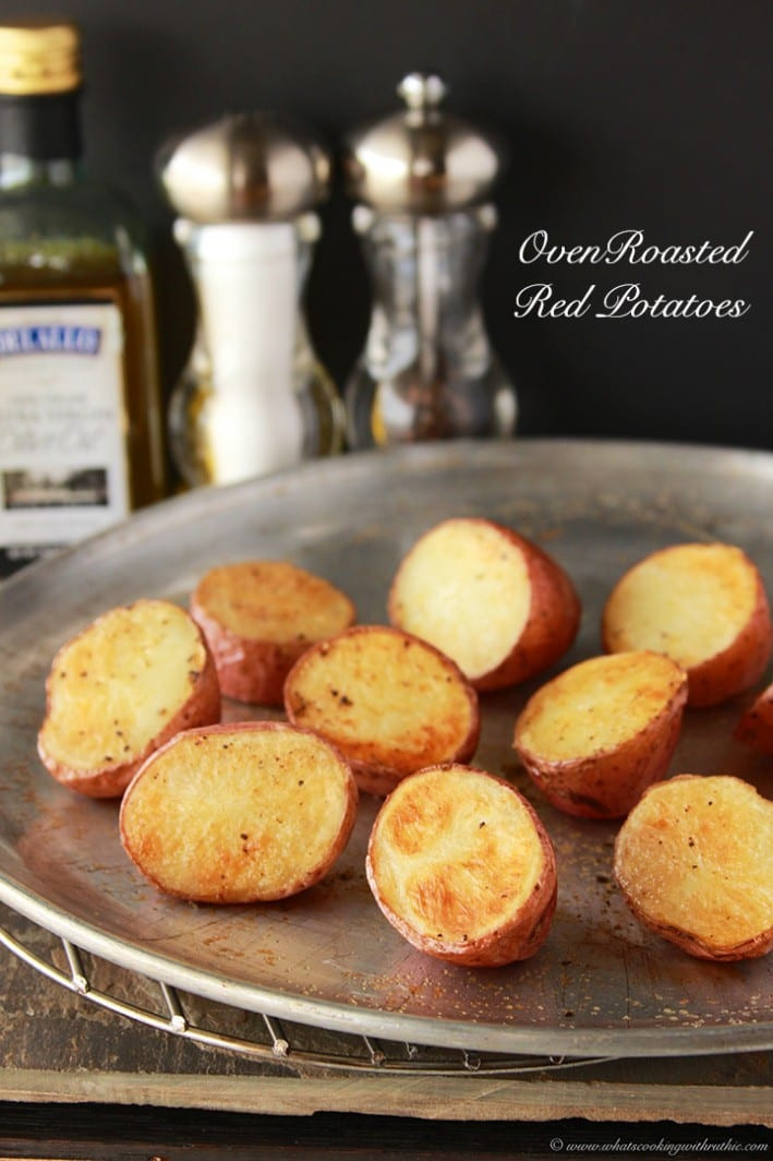 Oven Roasted Red Potatoes  Oven Roasted Red Potatoes Cooking With Ruthie