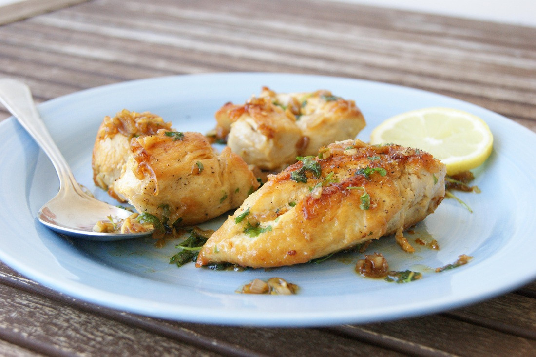 Pan Fried Chicken Recipe  Stekt kyllingbryst med hvitløk og sitron Pan fried chicken