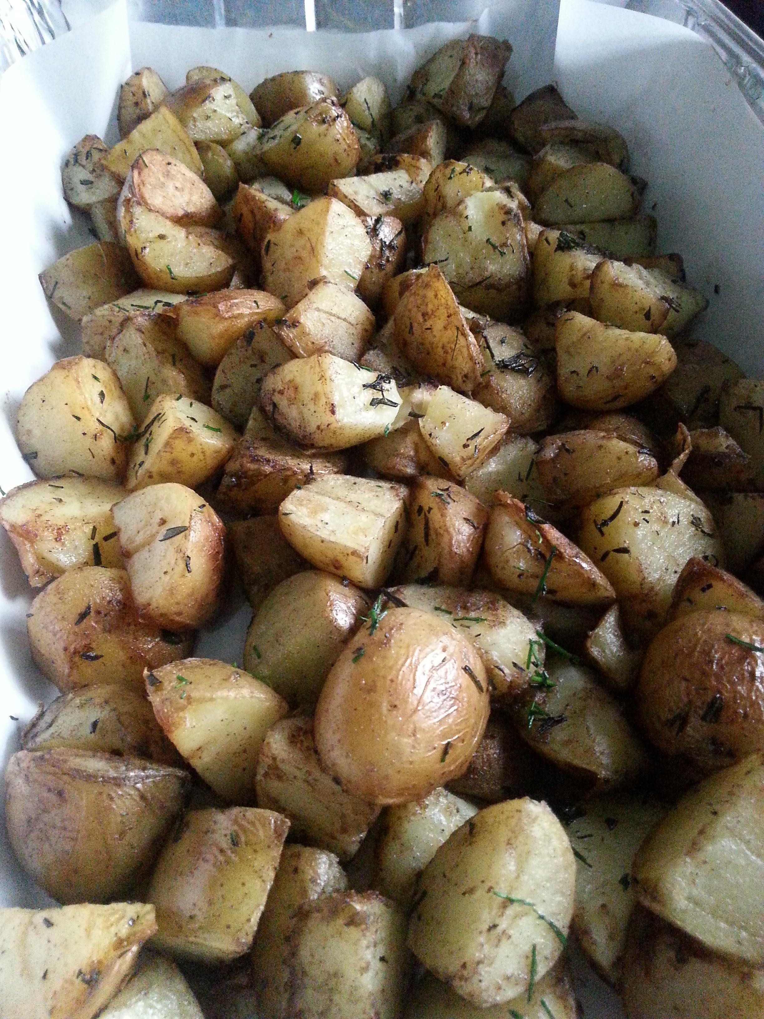 Pan Roasted Potatoes  pan roasted potatoes with rosemary