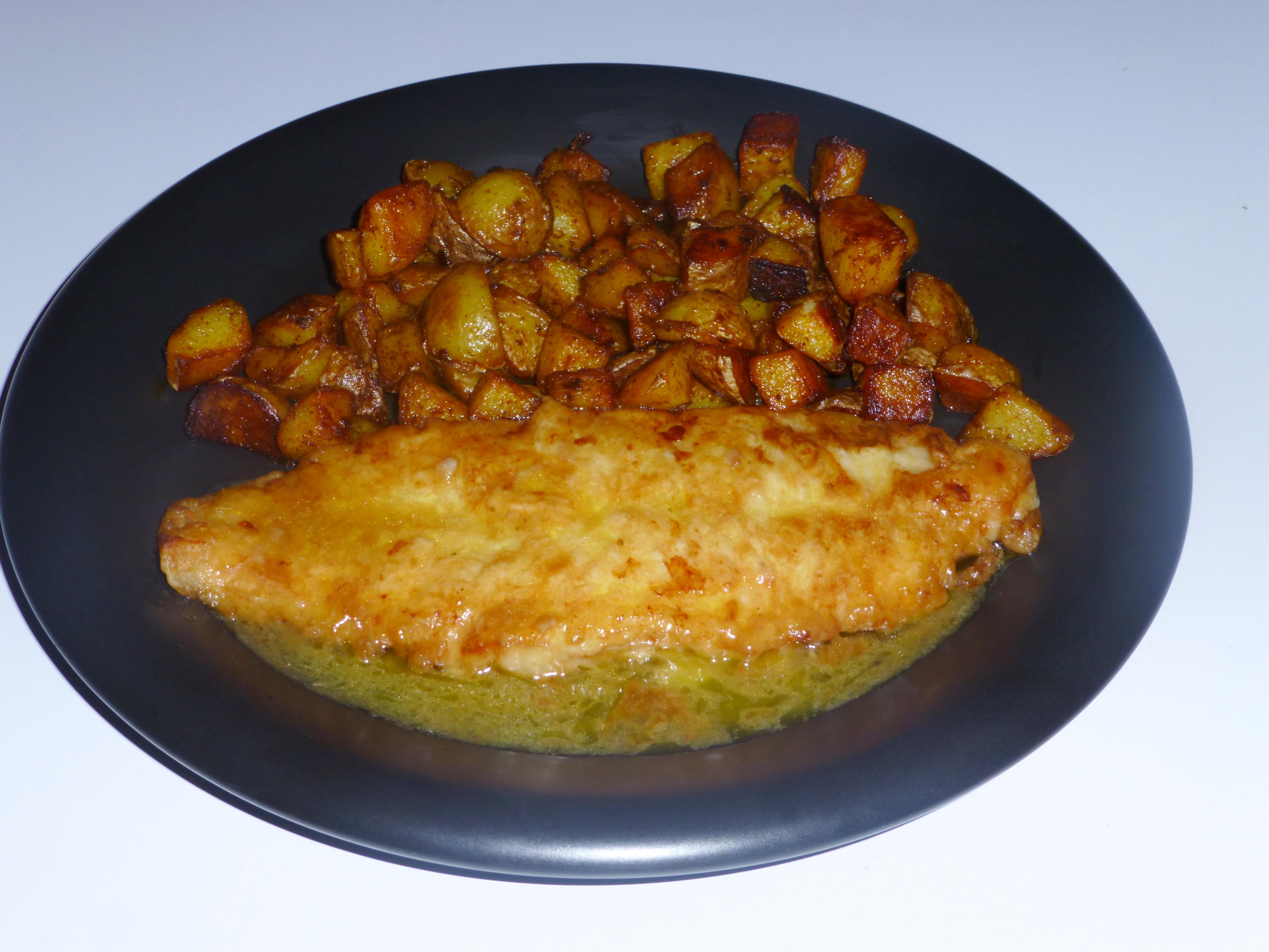 Pan Roasted Potatoes  Haddock Margarita and Pan Roasted Potatoes