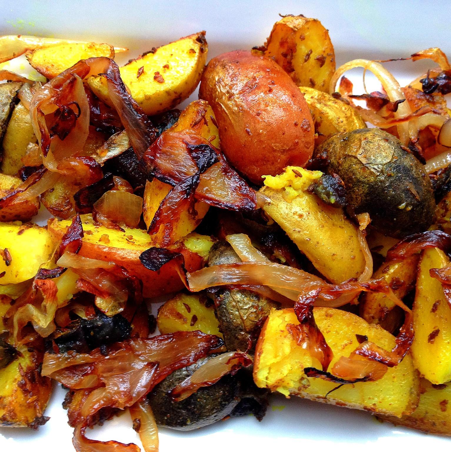 Pan Roasted Potatoes  pan roasted potatoes and onions