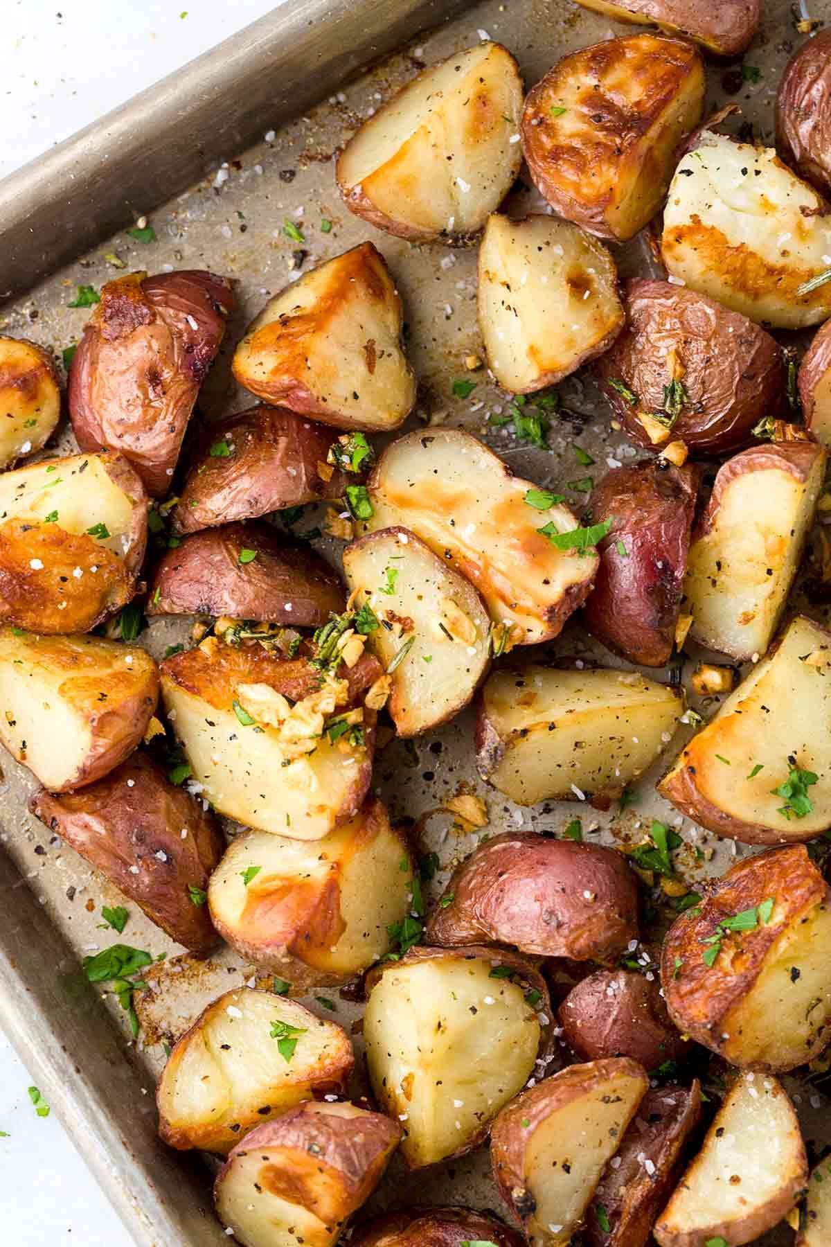 Pan Roasted Potatoes  Garlic Roasted Potatoes with Rosemary Jessica Gavin