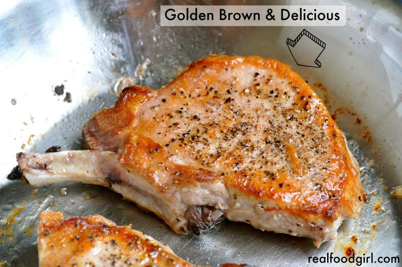 Pan Seared Pork Chops  30 Minute Mondays– Pan Seared Pork Chops with a Shallot