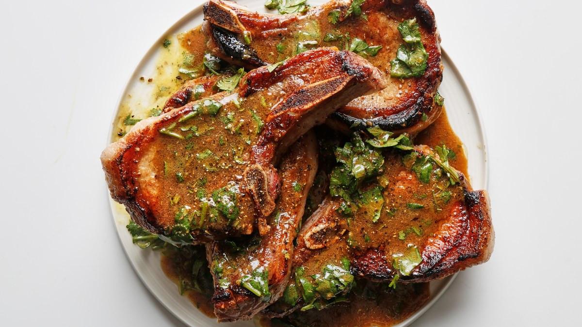 Pan Seared Pork Chops  Juicy Pan Seared Pork Chops with Citrus Dressing Recipe