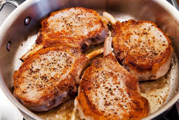 Pan Seared Pork Chops  pan seared pork chops recipe