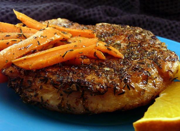Pan Seared Pork Chops  Pan Seared Pork Chops With Glazed Carrots Recipe Food