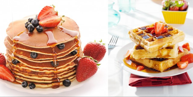 Pancakes And Waffles  Pancakes Vs Waffles Battle The Ages