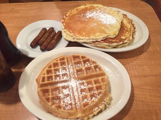 Pancakes And Waffles  Breakfast Pancakes and waffles Picture of Donut Hole
