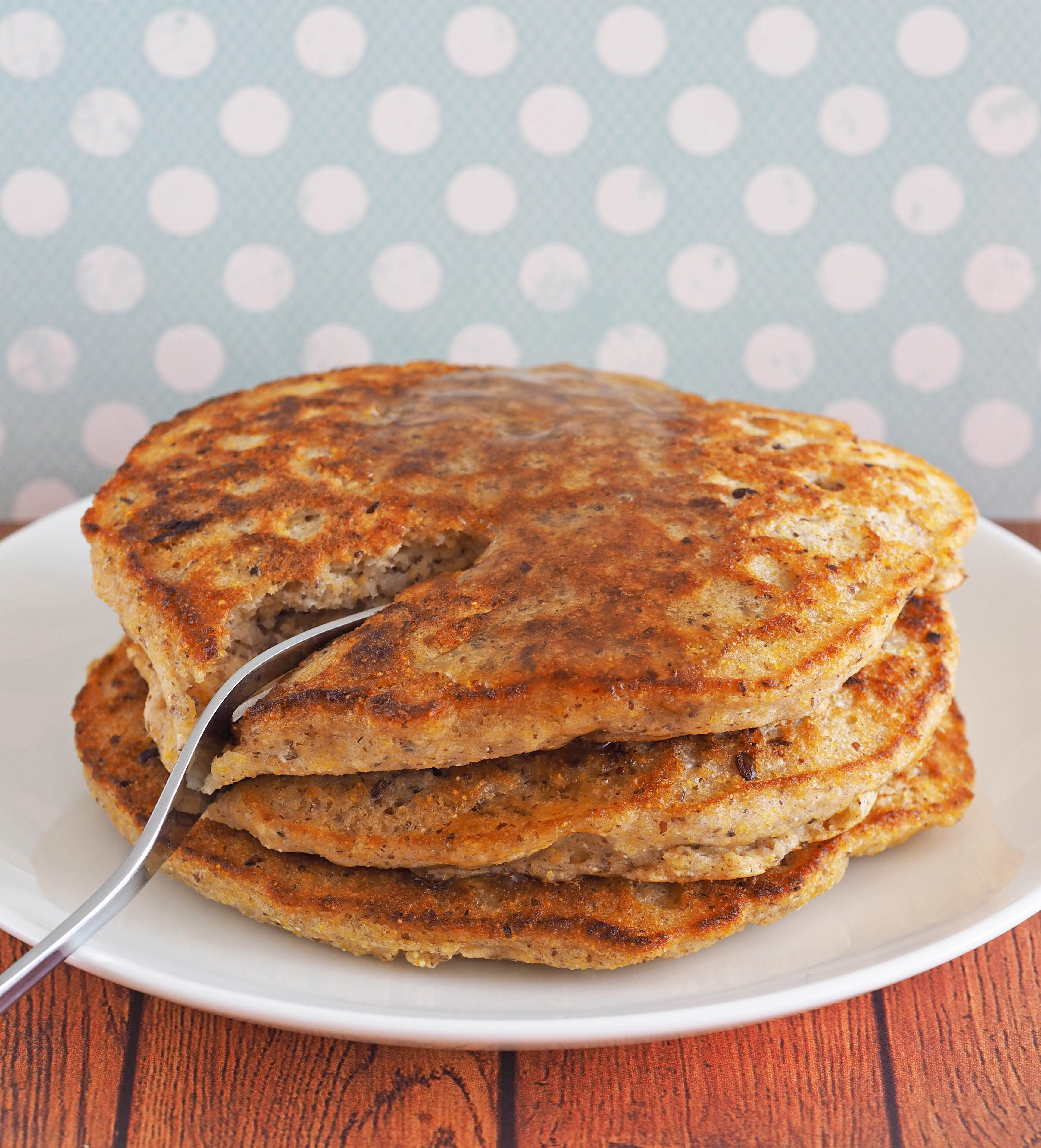 Pancakes For Breakfast  Easy Vegan Cornmeal Pancakes The Breakfast Drama Queen