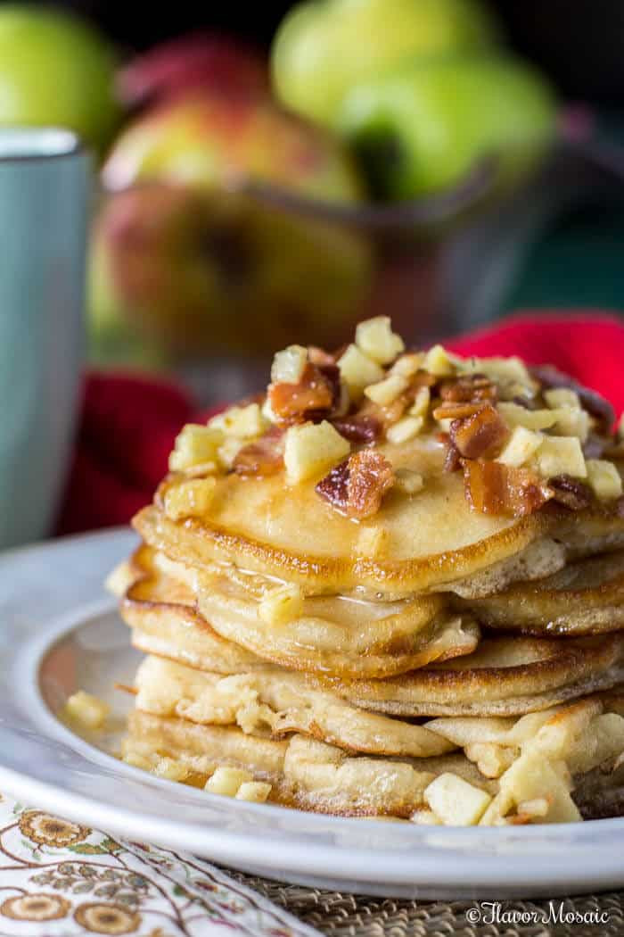 Pancakes For Breakfast  Apple Maple Bacon Pancakes Flavor Mosaic