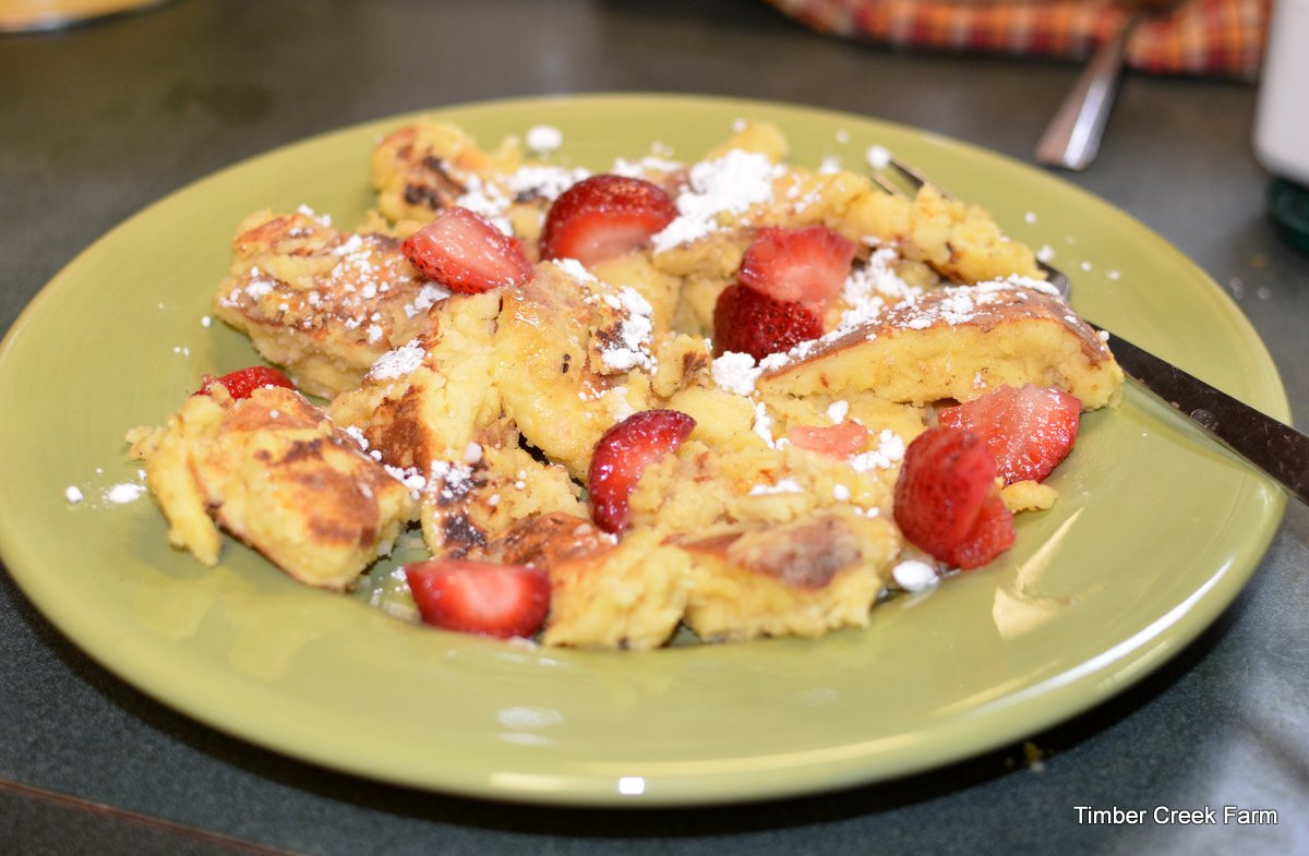 Pancakes For Breakfast  Austrian Pancakes For Breakfast Timber Creek Farm