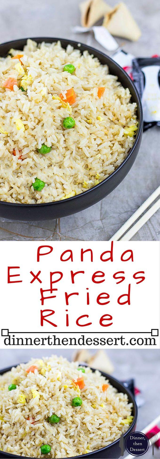 Panda Express Fried Rice  Panda Express Fried Rice Copycat Dinner then Dessert