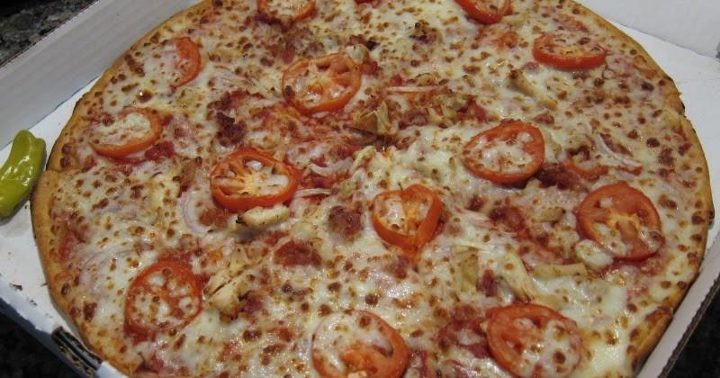 Papa John'S Pizza Buffalo Chicken Pizza  Review Papa John s Thin Crust Grilled Chicken Club