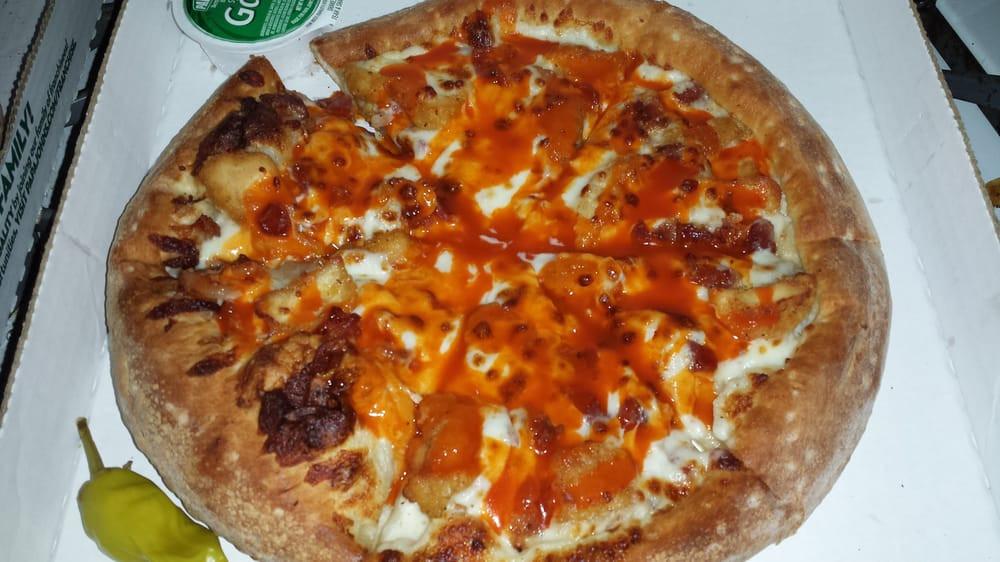 Papa John'S Pizza Buffalo Chicken Pizza  Small Buffalo Chicken pizza no onions Ranch Buffalo
