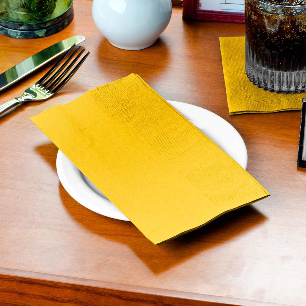 Paper Dinner Napkins  Sunny Yellow Paper Dinner Napkin Choice 2 Ply