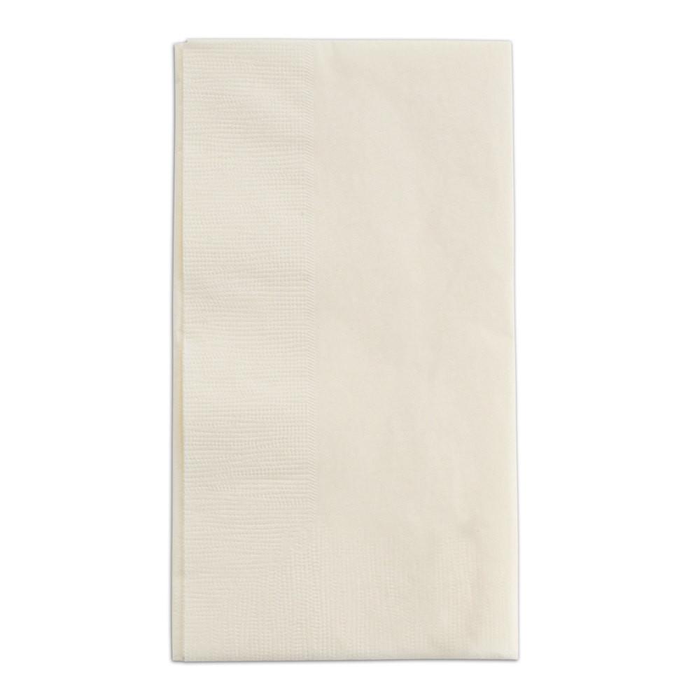 "Paper Dinner Napkins  Choice 15"" x 17"" Ecru Ivory 2 Ply Paper Dinner Napkins"