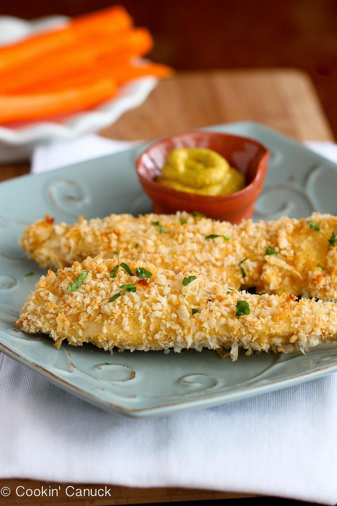 Parmesan Crusted Chicken Tenders  Crispy Baked Parmesan Crusted Chicken Tenders Recipe