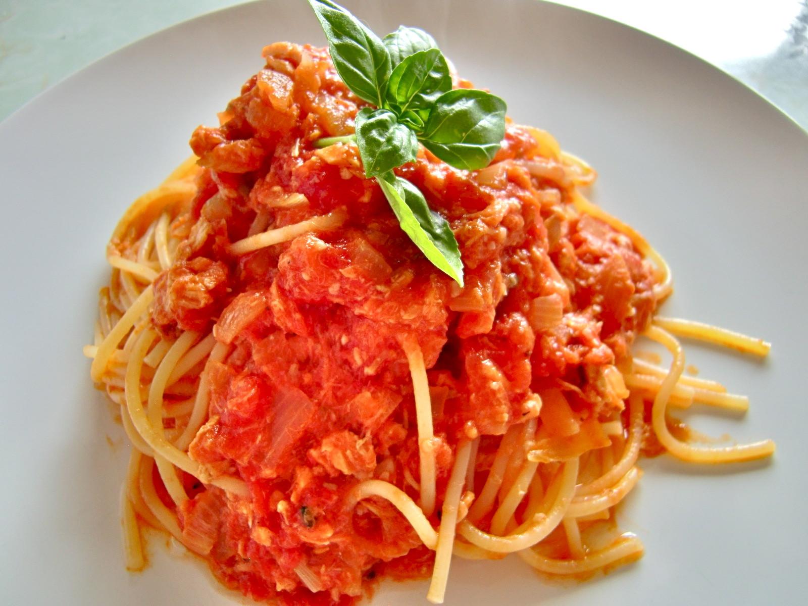 Pasta With Tomato Sauce  Salmon tomato sauce pasta – Shio Koji magic –