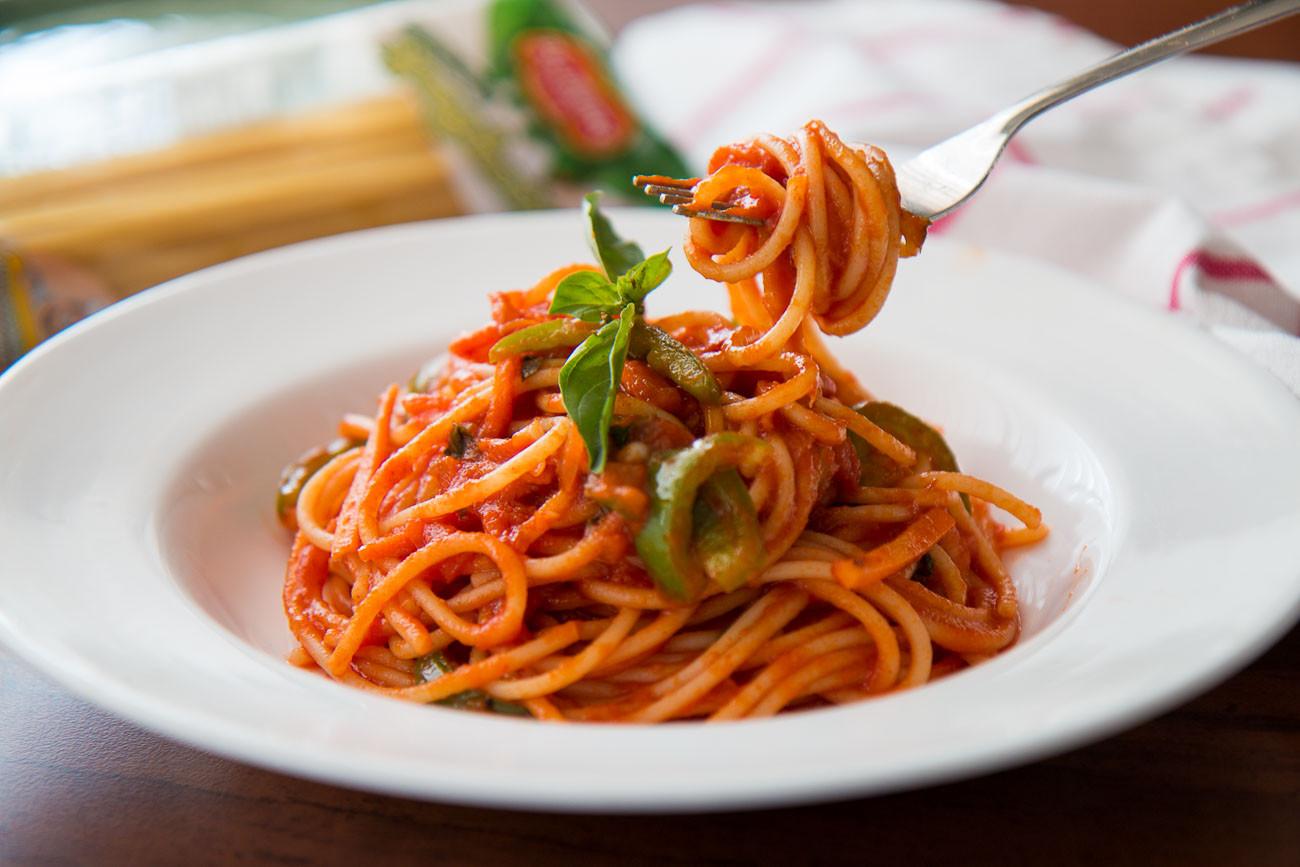 Pasta With Tomato Sauce  Spaghetti Pasta Recipe In Creamy Tomato Sauce by Archana s