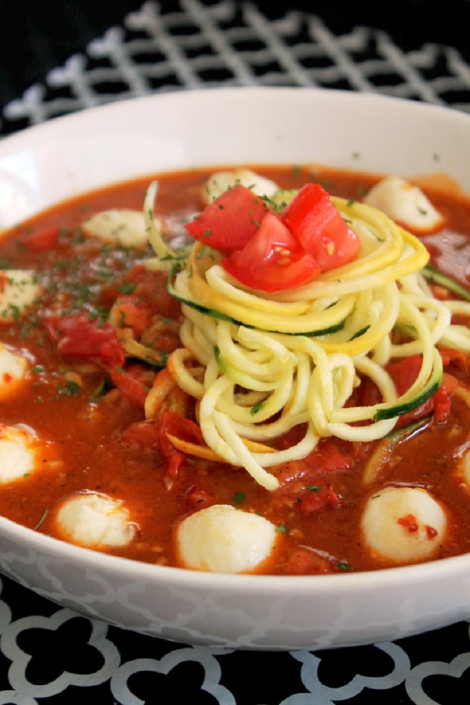 Pasta With Tomato Sauce  Zucchini Pasta with Tomato Sauce