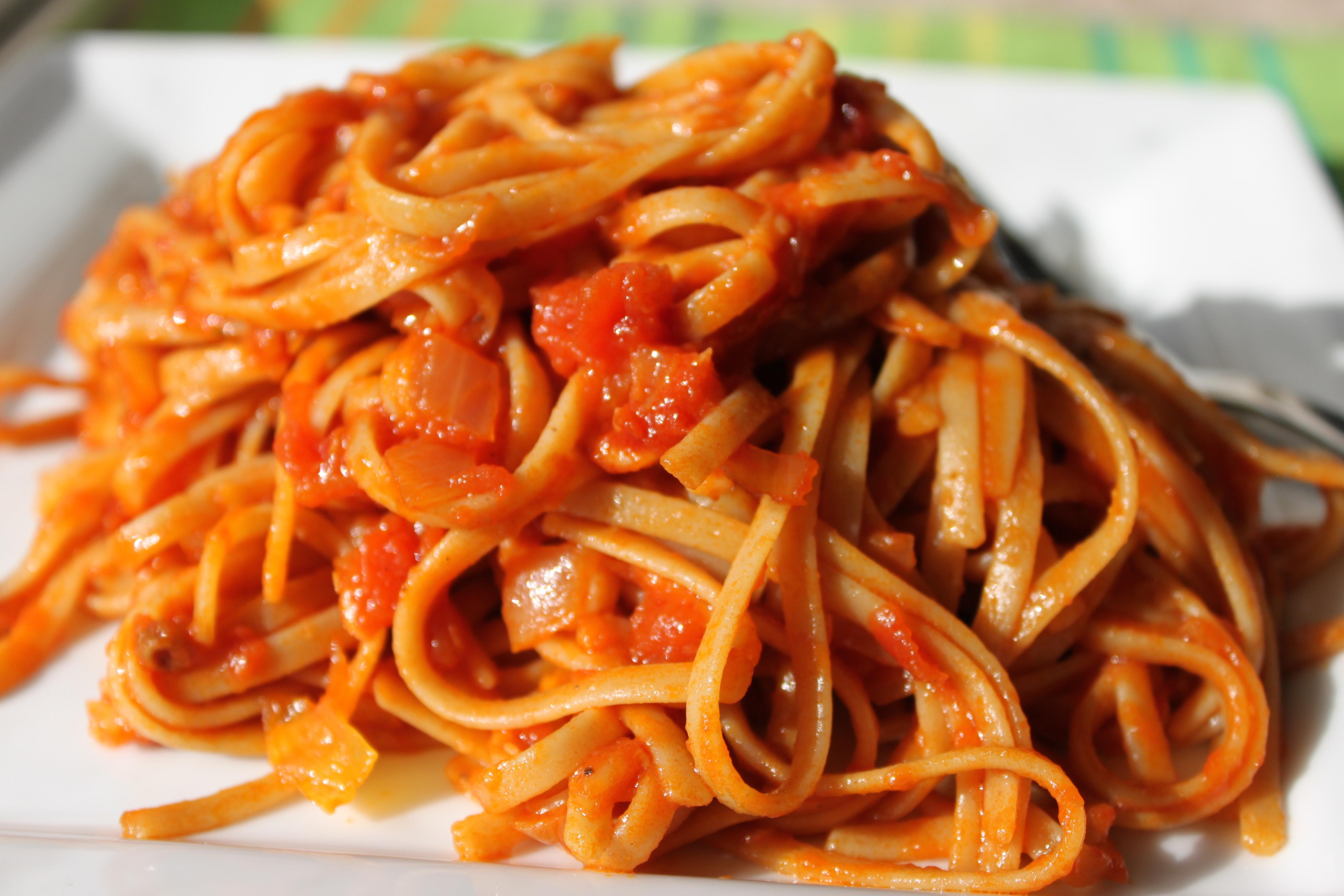 Pasta With Tomato Sauce  tomato sauce
