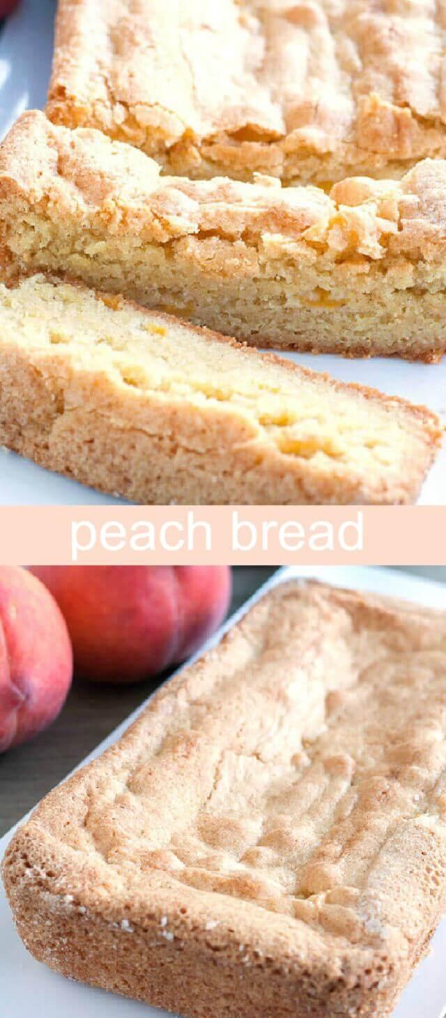 Peach Bread Recipe  Peach Bread A quick bread recipe with fresh peaches