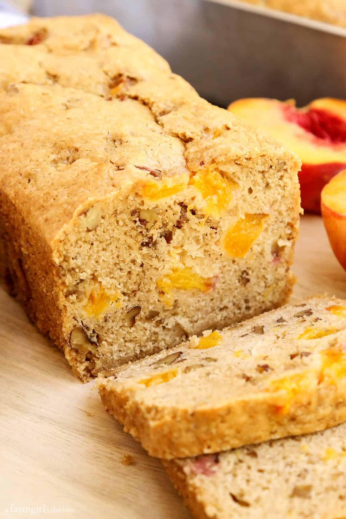 Peach Bread Recipe  Peach Bread • a farmgirl s dabbles