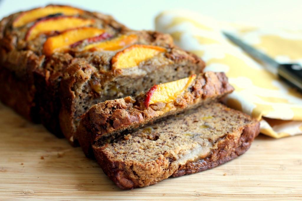 Peach Bread Recipe  Low fat Cinnamon Peach Banana Bread