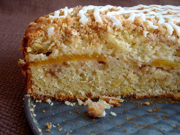 Peach Coffee Cake  Peach Coffee Cake Coffee Cake Peach and Buttermilk Crumb