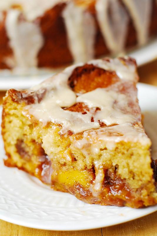 Peach Coffee Cake  Peach Coffee Cake with Vanilla Glaze Julia s Album