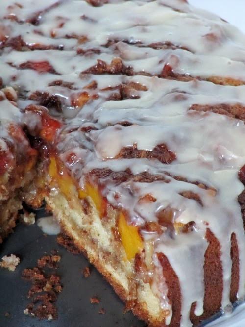 Peach Coffee Cake  DECK THE HOLIDAY S VANILLA PEACH COFFEE CAKE