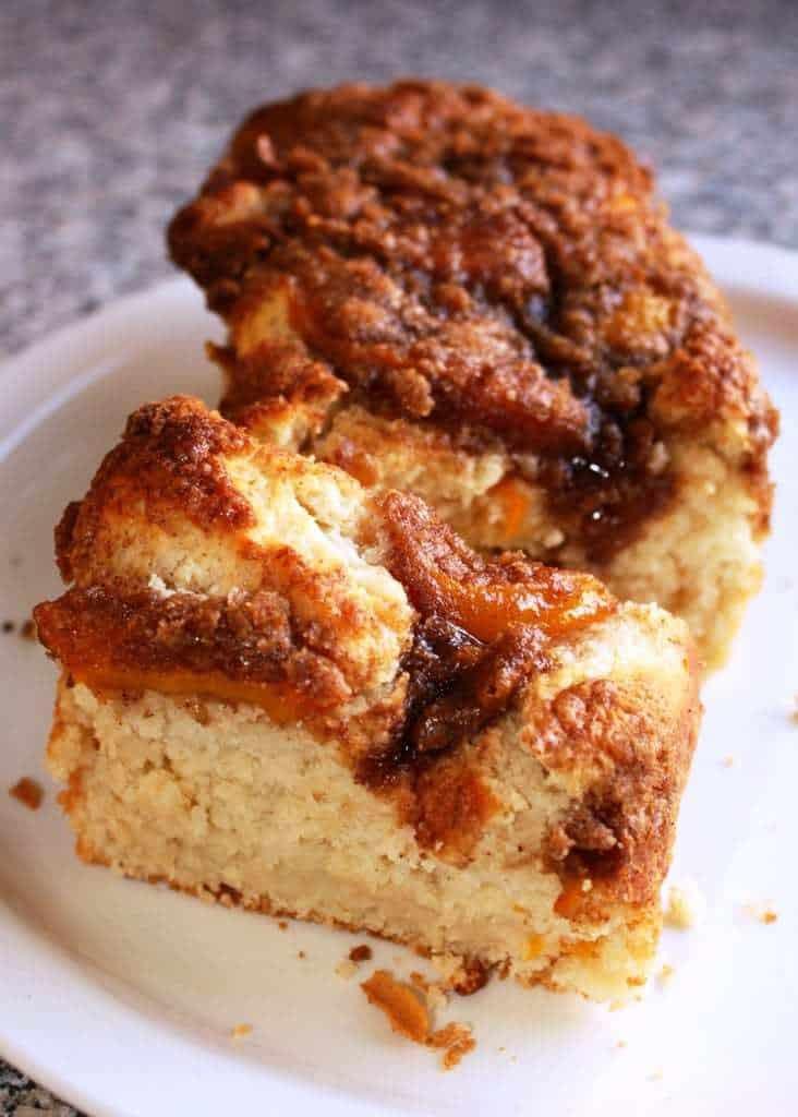 Peach Coffee Cake  Peach Coffee Cake JavaCupcake