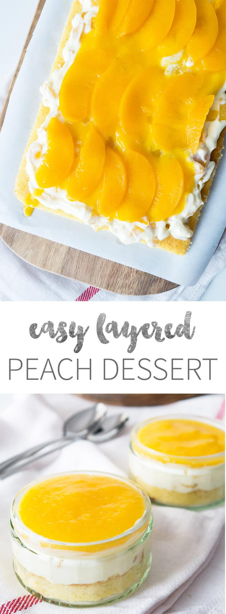Peach Desserts Easy  Easy Canned Peach Dessert w Vanilla & Sour Cream