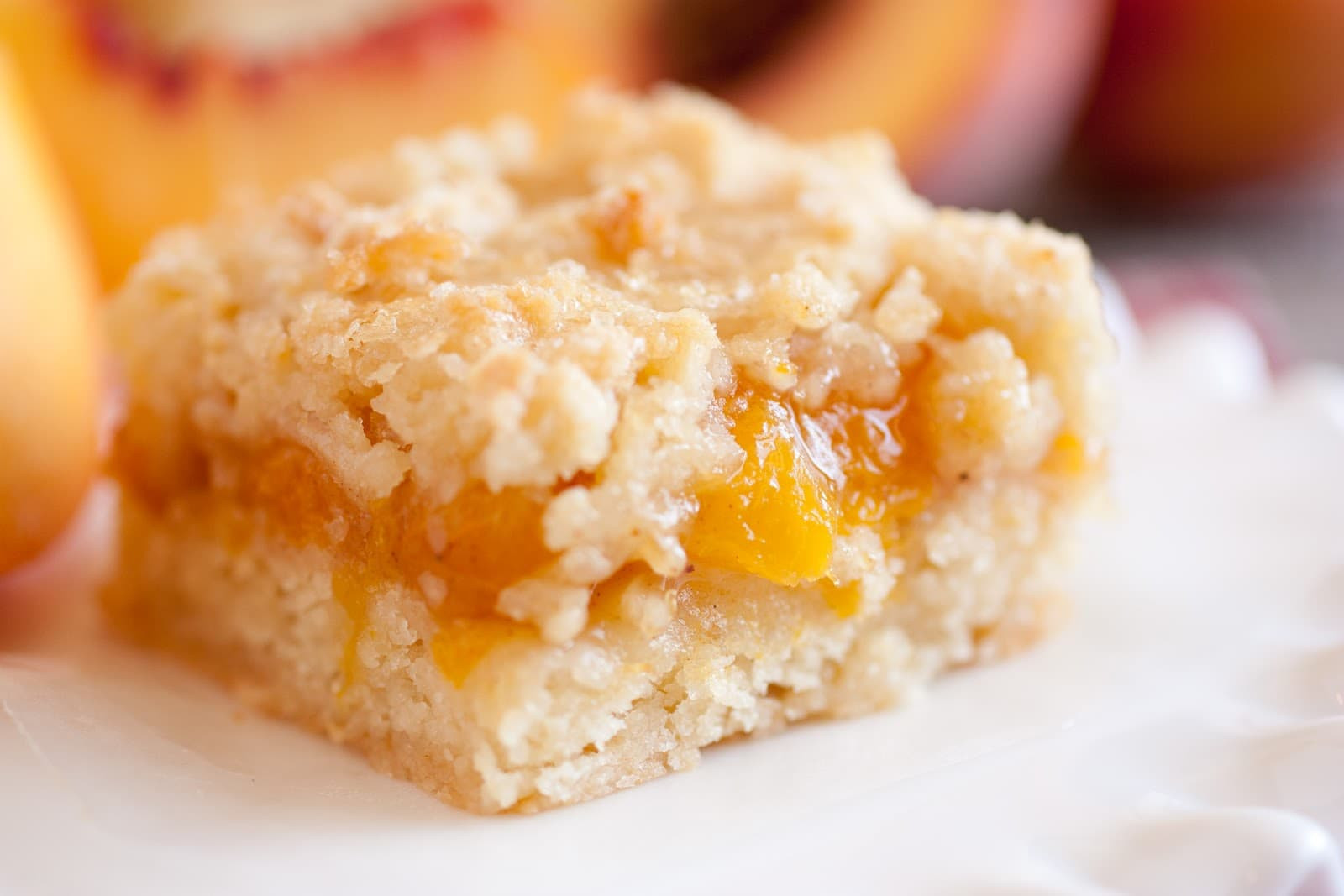 Peach Desserts Easy  Peach Crumb Bars Cooking Classy