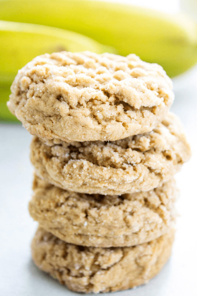 Peanut Butter Banana Cookies  HEALTHY PEANUT BUTTER BANANA COOKIES A Dash of Sanity