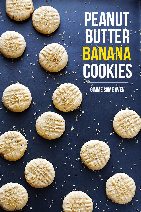 Peanut Butter Banana Cookies  Peanut Butter Banana Cookies