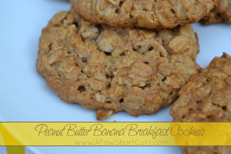 Peanut Butter Banana Cookies  Peanut Butter Banana Breakfast Cookies A Few Shortcuts