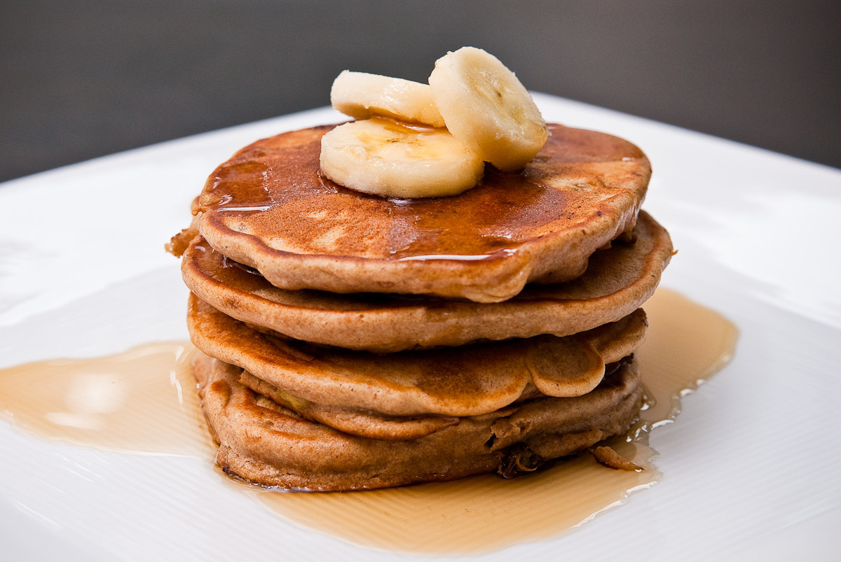 Peanut Butter Banana Pancakes  Peanut Butter & Banana Pancakes Recipegreat