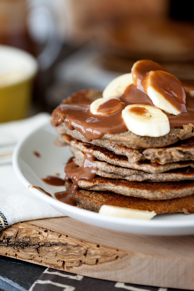 Peanut Butter Banana Pancakes  Vegan Mother s Day Brunch Recipes
