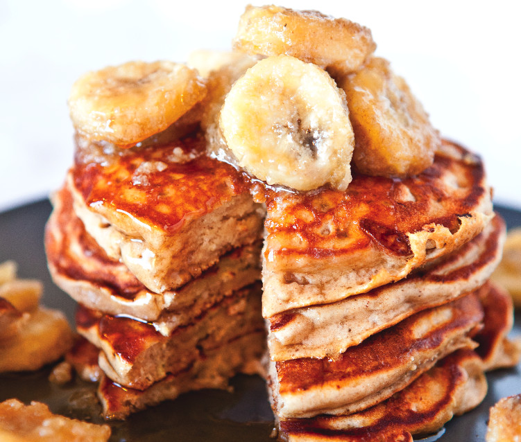 Peanut Butter Banana Pancakes  Peanut Butter And Banana Pancakes Recipe Food Republic